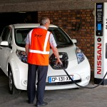 Nissan Leaf being charged up