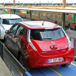 Two Nissan Leafs on SNCF Auto-Train