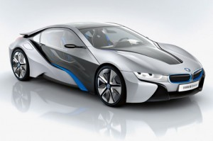 BMW i8 front quarter view