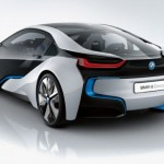 BMW i8 rear quarter view