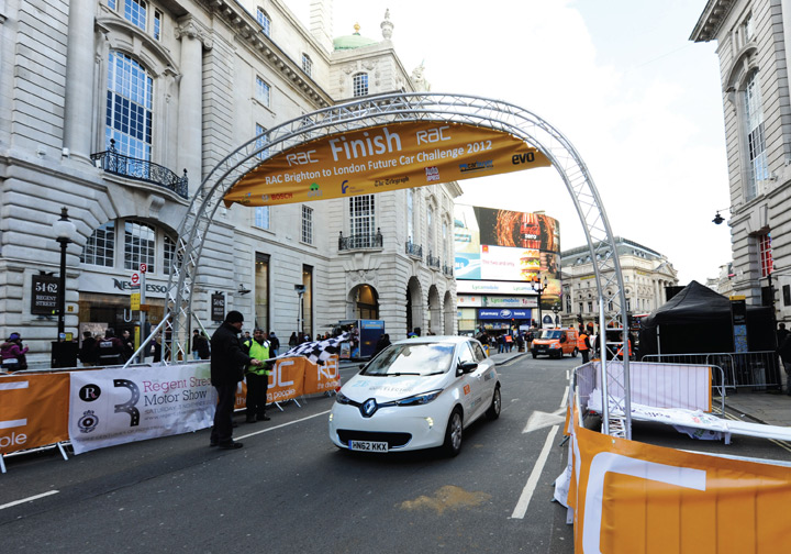 Renault ZOE at the finish line, 3 November 2012