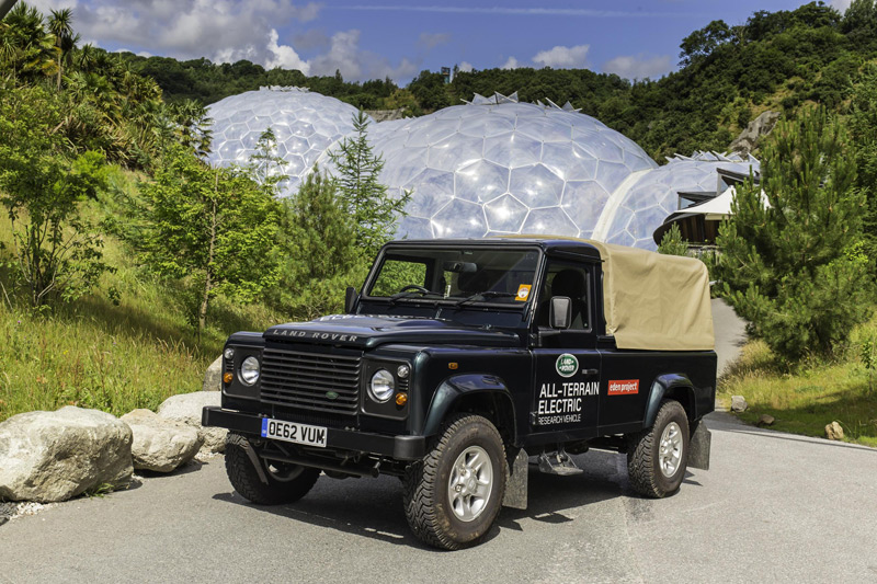 Land Rover Electric Defender at the Eden Project in Cornwall