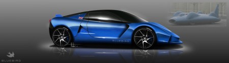 The Bluebird DC50 electric sportscar for launch July 2013