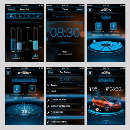 With ConnectedDrive on your smartphone you control your BMW i3 from wherever you want, to start whenever you want.