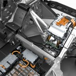 BMW i3 Cross section layout - electric motor and drivetrain