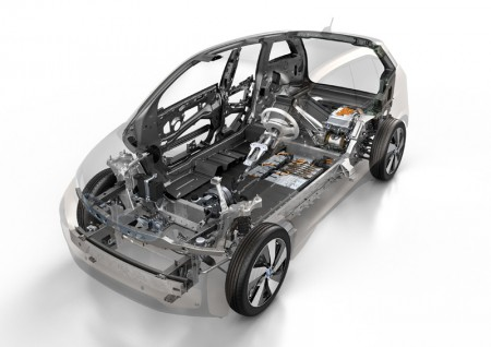 BMW i3 Cross section layout - front view