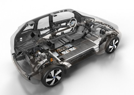 BMW i3 Cross section layout - rear view