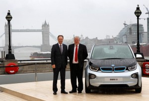 Dr. Ian Robertson (HonDSc), Member of the Board of Management of BMW AG, Sales and Marketing BMW, Sales Channels BMW Group and Rt Hon Patrick McLoughlin MP, Secretary of State for Transport, at the launch of the BMW i3.