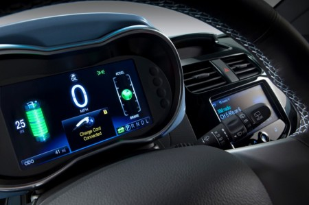 Chevrolet Spark Electric Car 2014 - Instrument display