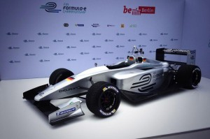 Formula E Race Car on stand at Berlin 11th July 2013
