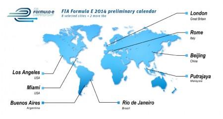Formula E Preliminary Calendar