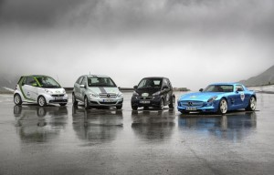Mercedes-Benz Electric Cars at the Silvretta Rallye - BRABUS Smart ForTwo, Mercedes-Benz B-Class F-CELL and Mercedes-Benz SLS AMG Coupé Electric Drive