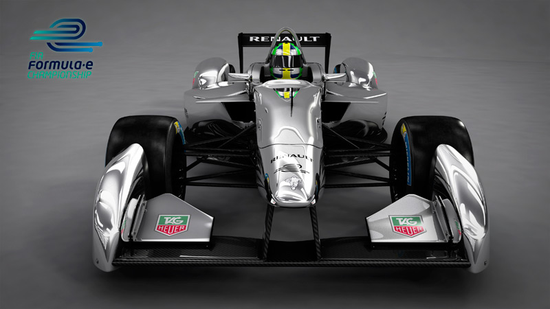 New Formula E car - 3D rendering - Front View