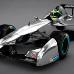 New Formula E car - 3D rendering - Front Quarter