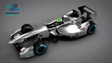 New Formula E car - 3D rendering - Top Down View