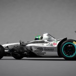 New Formula E car - 3D rendering - Side View