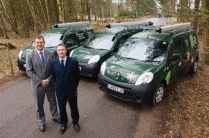 Center Parcs goes electric with Renault - Andy Heiron and Paul Kent (left to right)