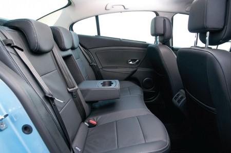 Renault Fluence Z.E. Electric Car - Interior, rear