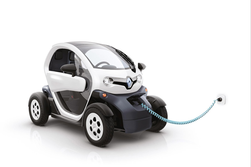 Renault Twizy Electric Car - Recharging
