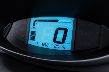 Renault Twizy Electric Car - Digital speedometer and display