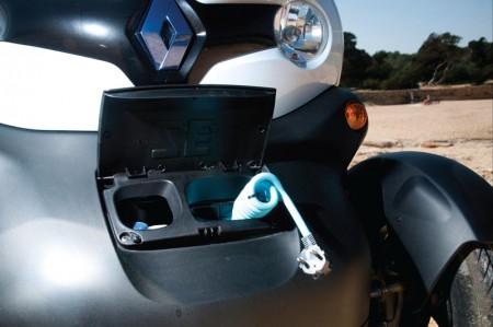 Renault Twizy Electric Car - Recharging socket (US shown)