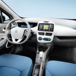 Renault ZOE Electric Car - Interior dashboard
