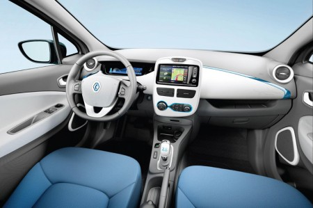 Renault ZOE Electric Car - Interior dashboard