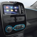 Renault ZOE Electric Car - Renault R-Link multimedia display