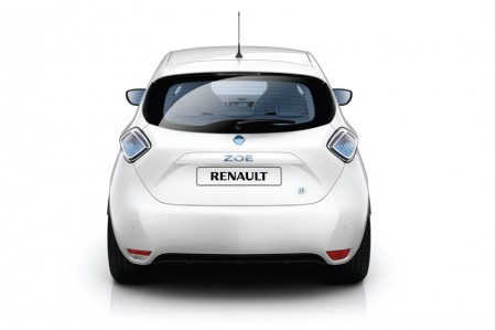 Renault ZOE Electric Car - Rear view