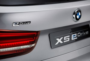 BMW X5 Hybrid eDrive - Distinctive eDrive markings