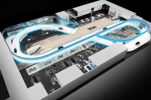 IAA 2013 Rendering BMW booth