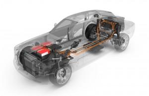 Rolls-Royce 102EX Phantom experimental electric car - Axeon, now Johnson Matthey provided the battery system