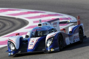 Toyota TS030 hybrid racing car