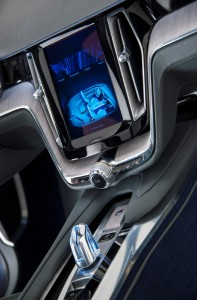 Volvo Concept Coupé hybrid - centre console large touch screen
