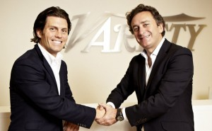 Dragon Racing owner Jay Penske (left) and Alejandro Agag, CEO of Formula E Holdings