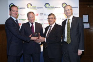 Nick Pascoe and Allan Cooper receiving Low Carbon Champions Award