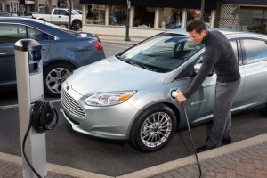 Ford Focus Electric - Recharging, in America