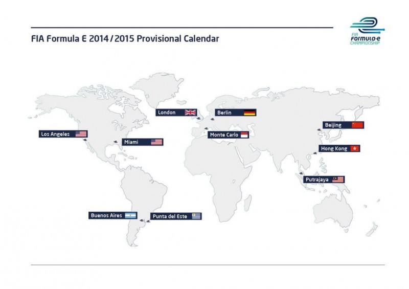 Formula E Provisional Calendar