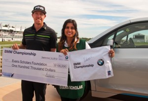 BMW Championship 2013 - Hunter Mahan made a hole-in-one and wins a BMW i3.