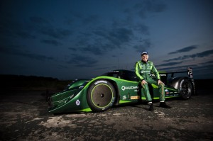 Lord Drayson with his Electric Lola