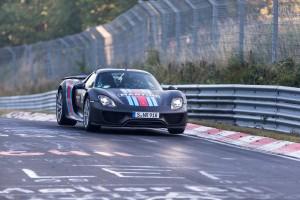 Porsche 918 Spyder Hybrid Supercar at Nürburgring-Nordschleife