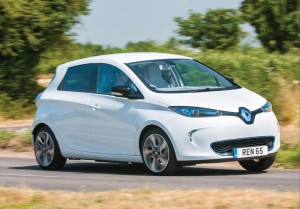 Renault Zoe electric car with zero emissions