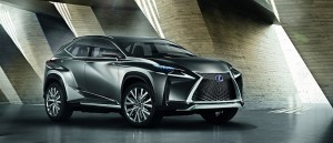 New Lexus mid-size crossover hybrid concept, the LF-NX