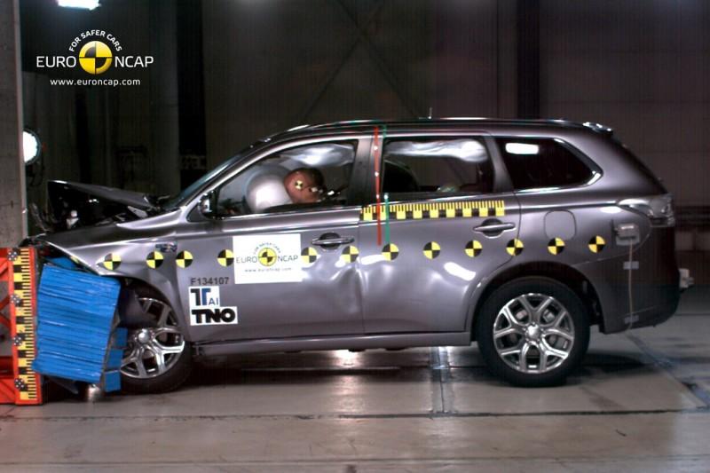 Mitsubishi Outlander PHEV ESC Test 2013 Euro NCAP