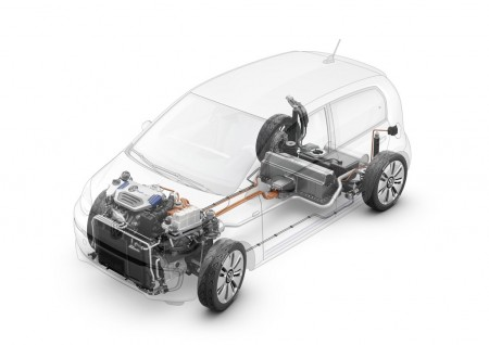 VW twin-up! plug-in hybrid concept technology cutaway