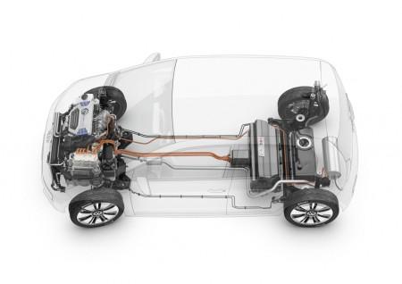 VW twin-up! plug-in hybrid concept technology cutaway
