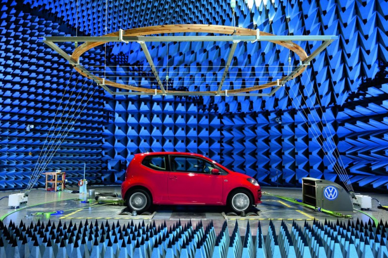 Volkswagen up! being tested for electromagnetic compatibility