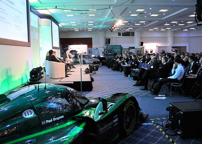 Lola Drayson car stage right at the Conference (2013)