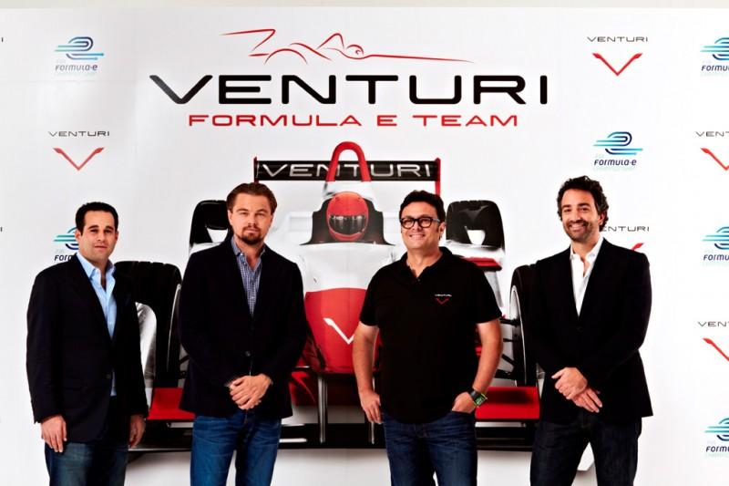 (left to right) Bert Hedaya, Leonardo DiCaprio, Gildo Pallanca Pastor and Francesco Costa