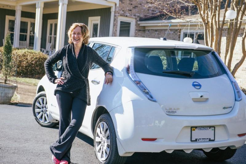 Amy Eichenberger 99,999th Nissan_LEAF